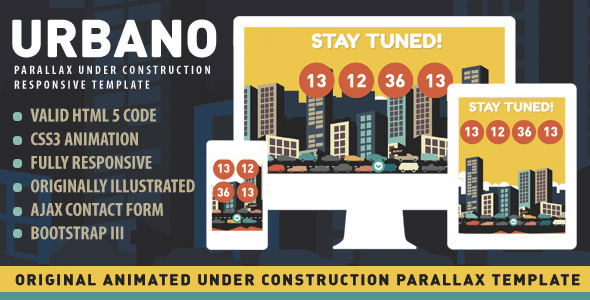 Urbano - Animated Under Construction Page