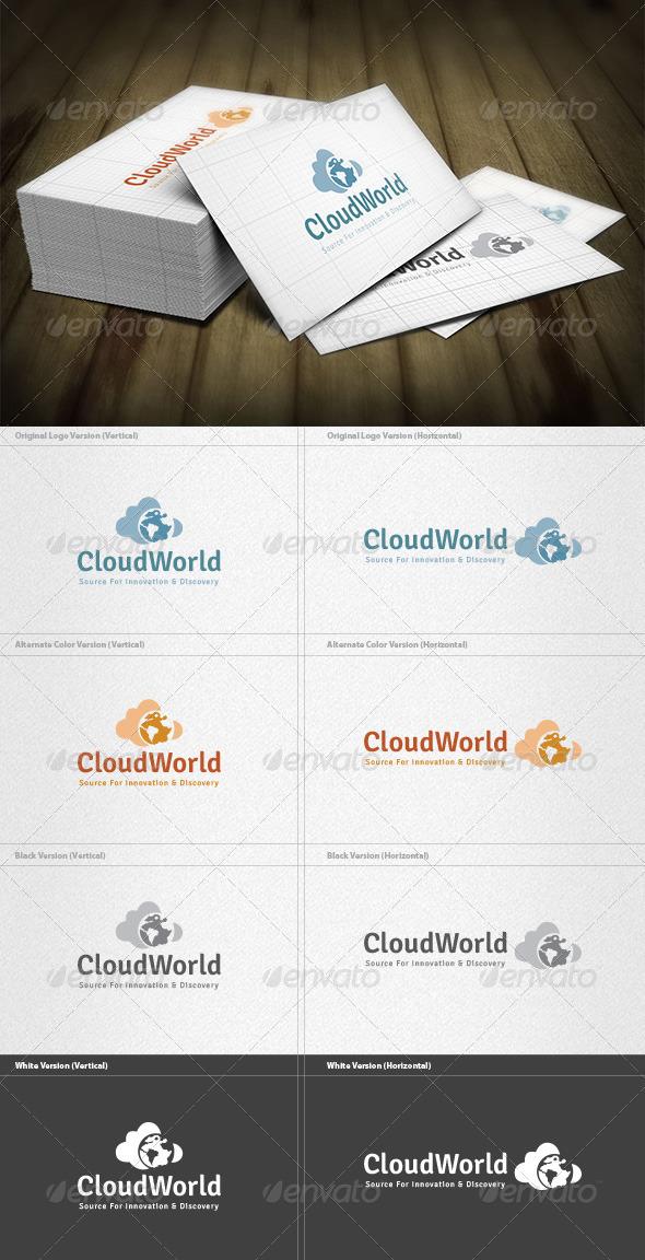 GraphicRiver Cloud World Logo 6044807
