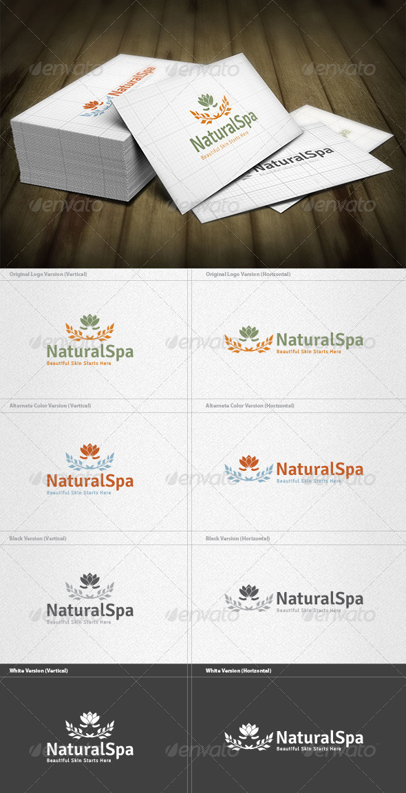 GraphicRiver Natural Spa Logo 6044873
