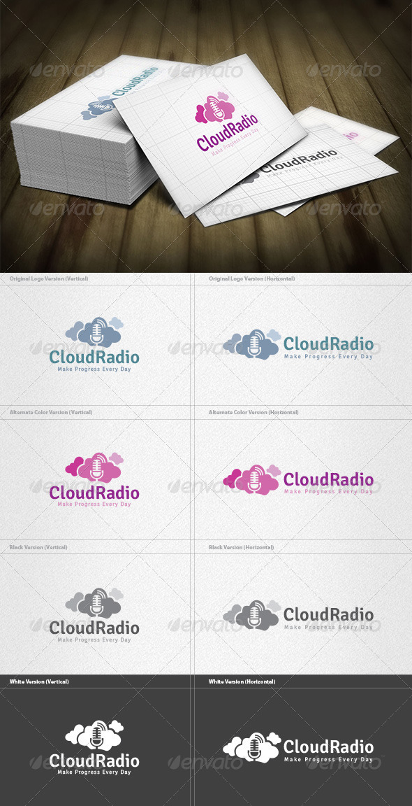 GraphicRiver Cloud Radio Logo 6044987