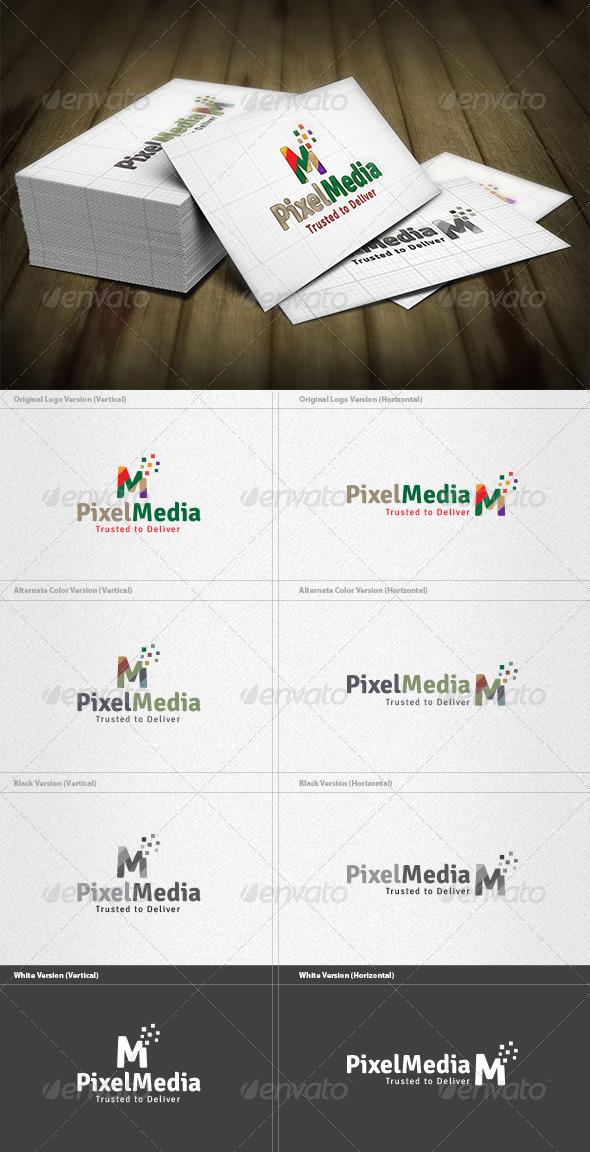 GraphicRiver Pixel Media Logo 6045029