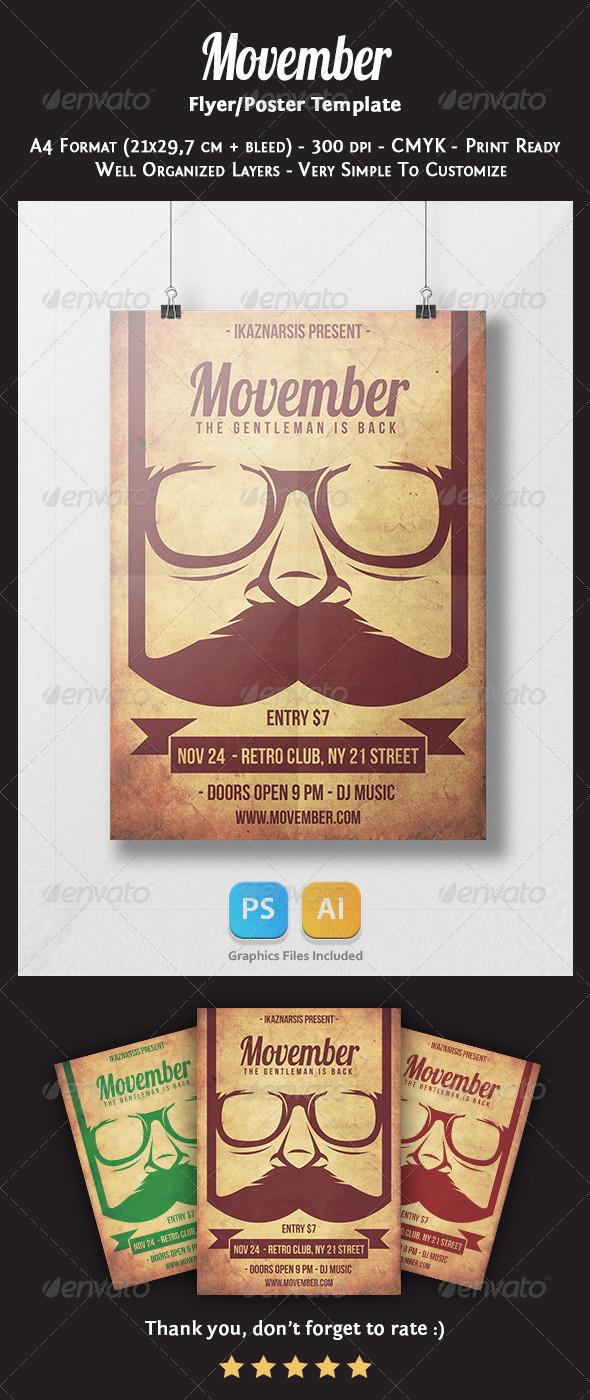 GraphicRiver Movember Flyer Template 6002788