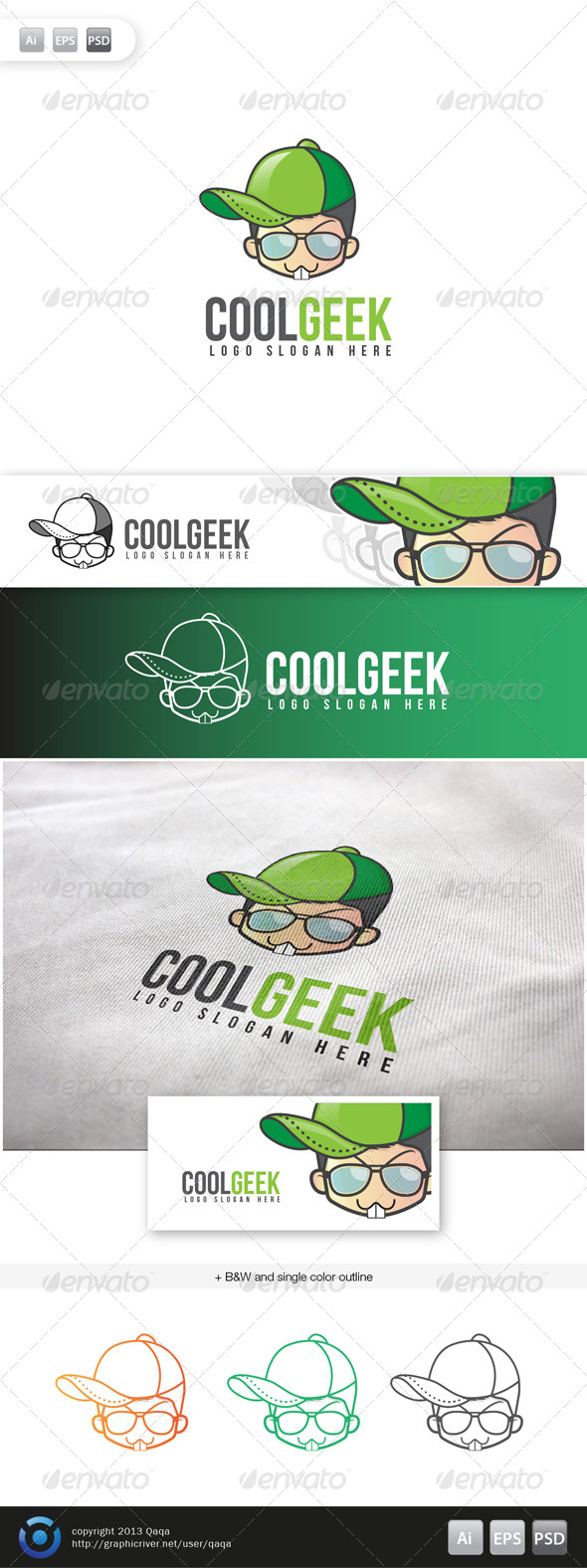 GraphicRiver Cool Geek Logo 6045270