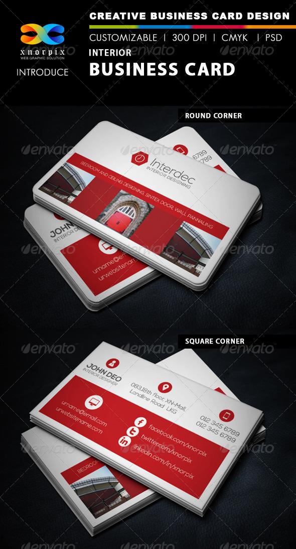 GraphicRiver Interior Business Card 6045290