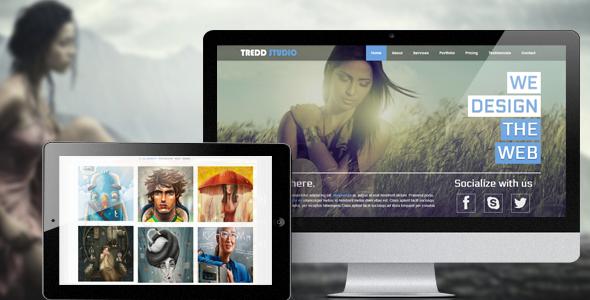 Tredd Studio - Responsive Single Page Portfolio