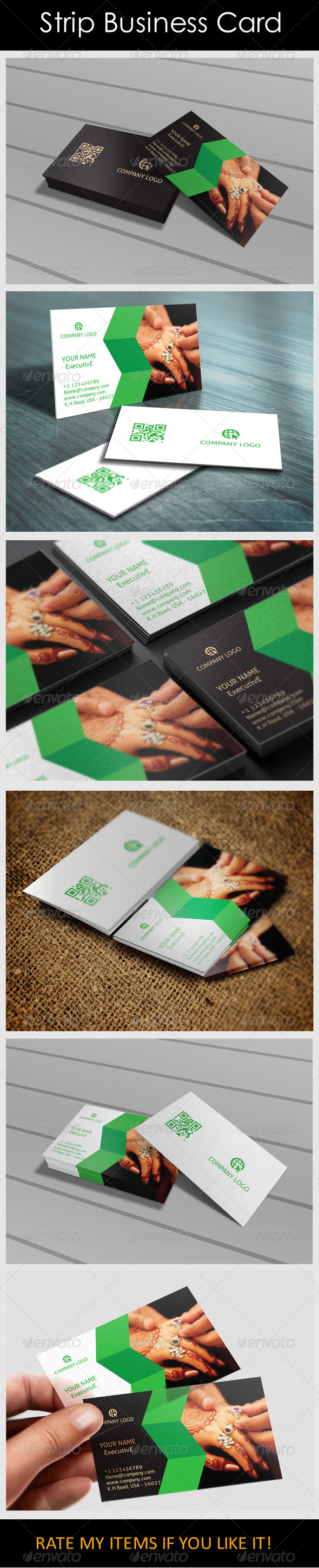 GraphicRiver Strip Business Card 6045379