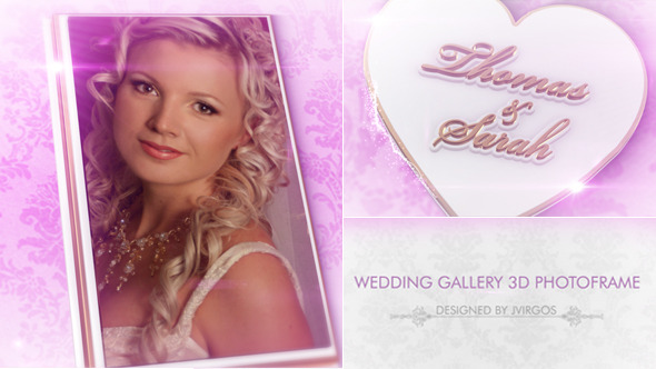 Romantic Wedding Gallery 3D Photo Frame