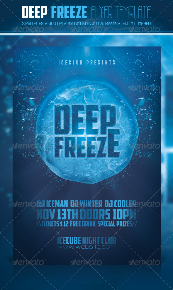 GraphicRiver Deep Freeze Flyer Template 6045434