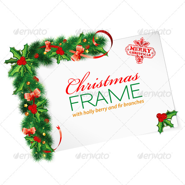GraphicRiver Christmas Frame 6045468