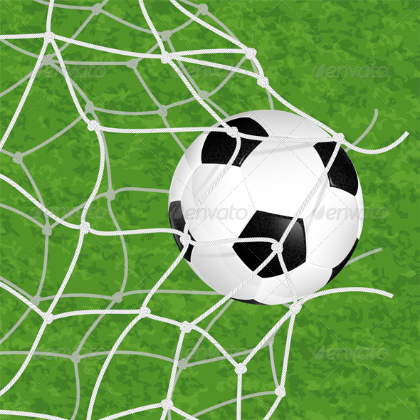 GraphicRiver Soccer Ball in Net 6045527