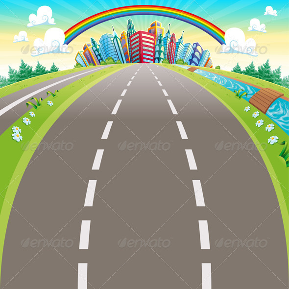 GraphicRiver Roads to the City 6045575