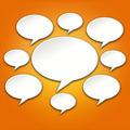 Chat Bubbles Conversation on Orange Background - PhotoDune Item for Sale