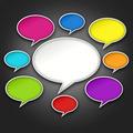 Colorful Chat Bubbles Conversation on Black - PhotoDune Item for Sale
