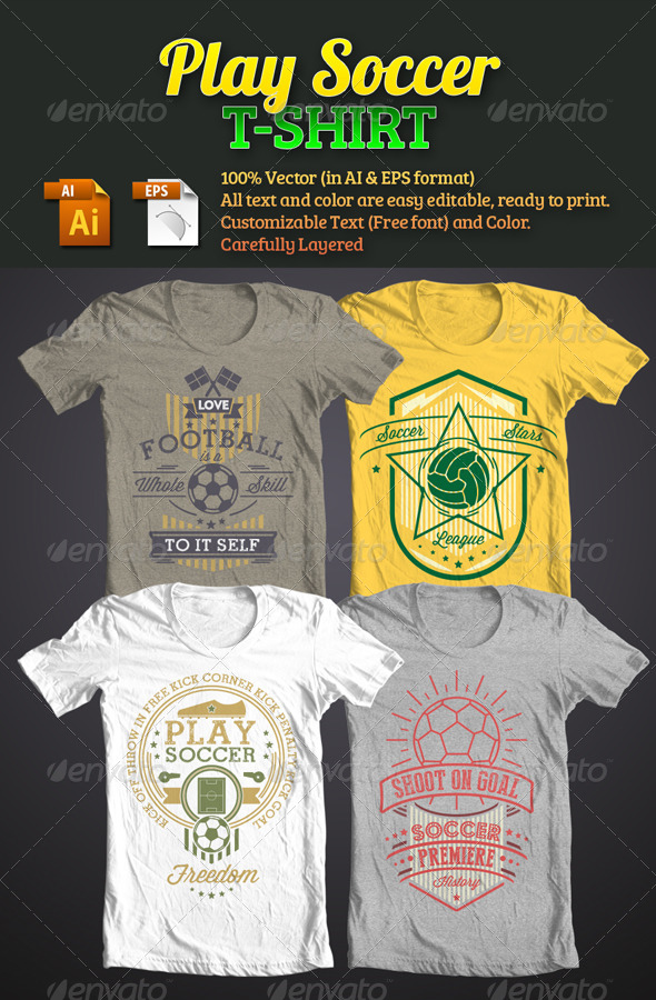 GraphicRiver Play Soccer T-Shirt 6045695
