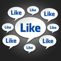 Like Chat Bubble Conversation on Black - PhotoDune Item for Sale