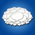 3d Chat Bubbles Storm Cloud on Blue Background - PhotoDune Item for Sale