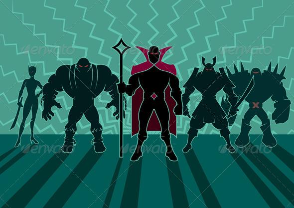 GraphicRiver Supervillain Team 6045734