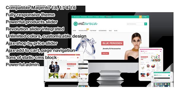 ThemeForest MT Areca multipurpo responsive magento theme 6045759
