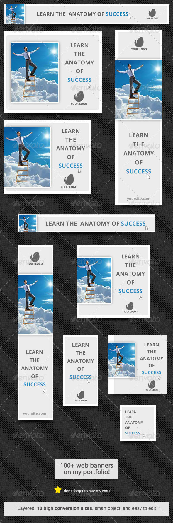 GraphicRiver Anatomy of Success Web Banner 6045809