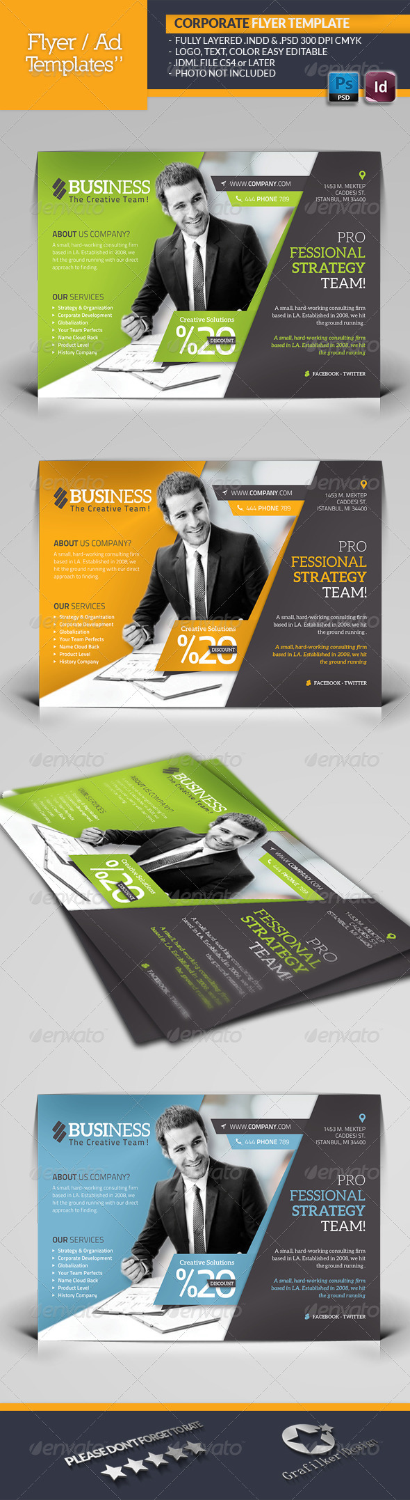 GraphicRiver Corporate Flyer Template 6045815