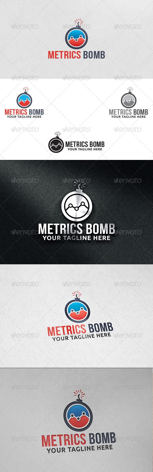 GraphicRiver Metrics Bomb Logo Template 6045941