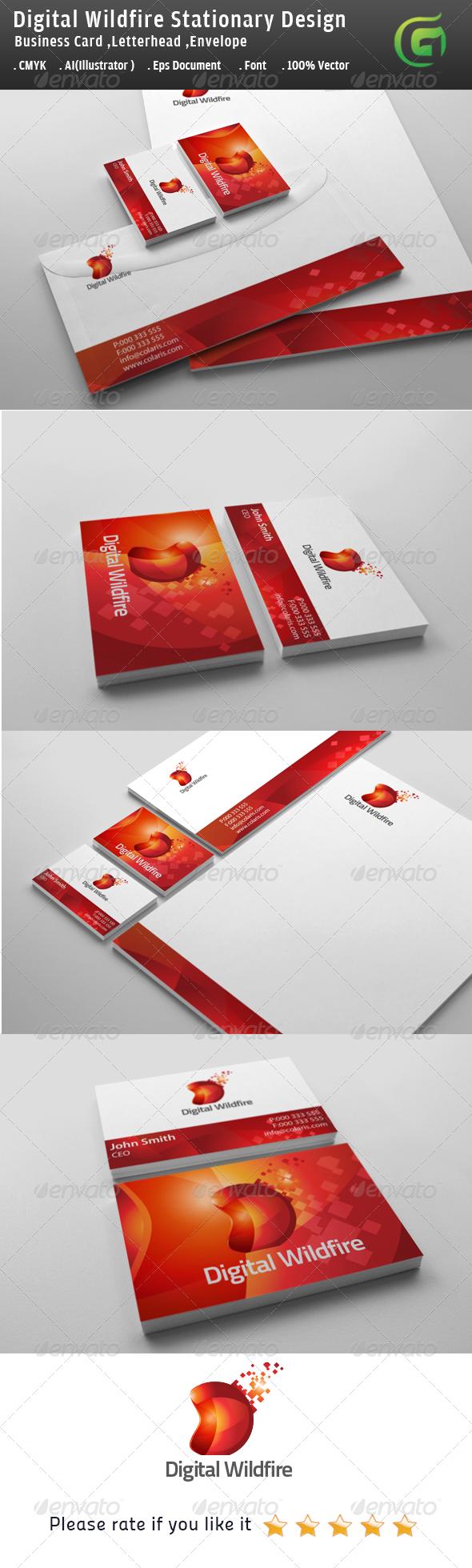 GraphicRiver Digital Wildfire Stationary Design 6046121