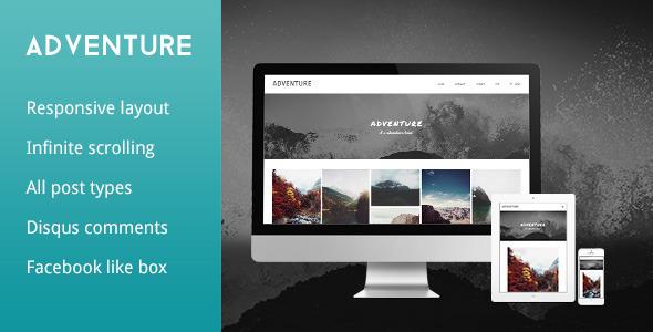 ThemeForest Adventure Grid Responsive Tumblr Theme 6037607