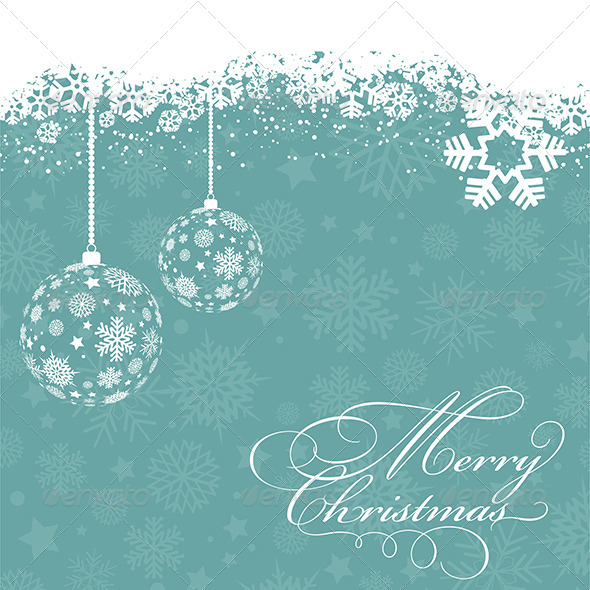 GraphicRiver Christmas Bauble Background 6046692