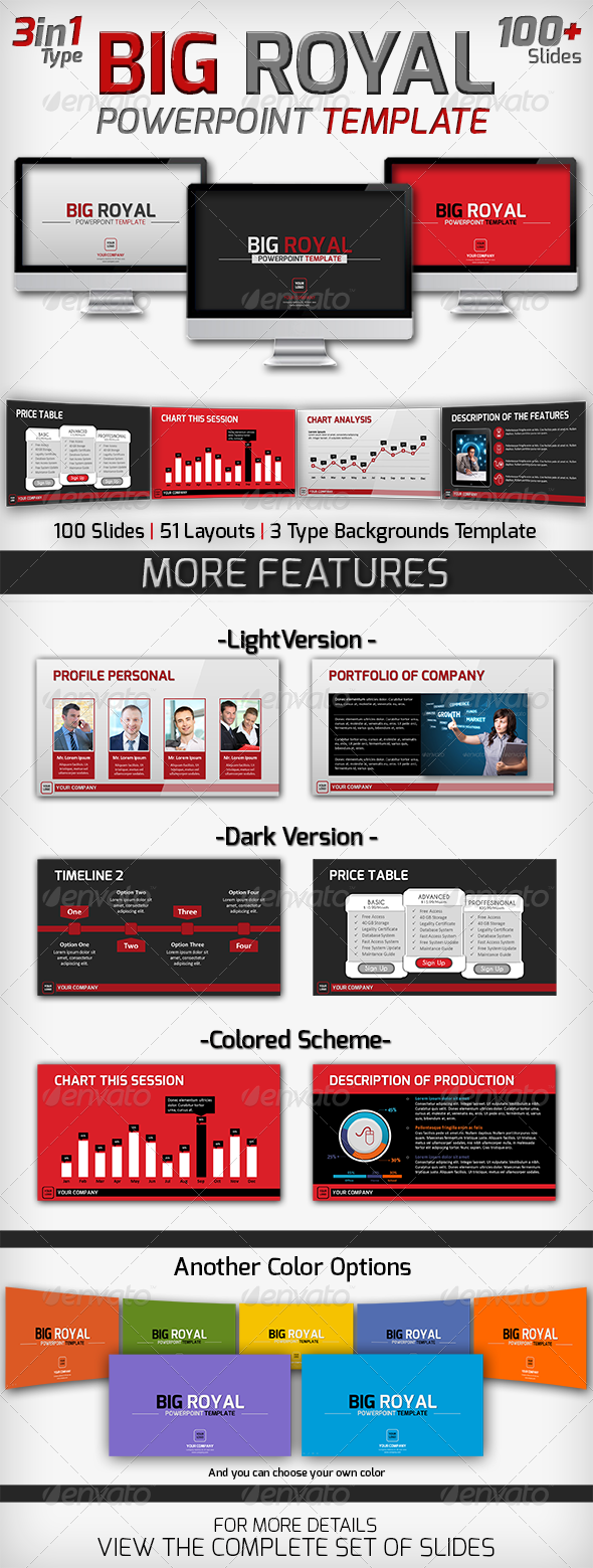 GraphicRiver Big Royal PowerPoint Template 6017237