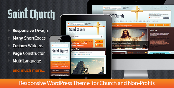 ThemeForest SaintChurch WordPress Theme for Charity 5961680