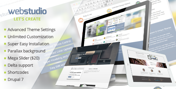 ThemeForest Webstudio Responsive Multipurpose Drupal 7 Theme 6046755