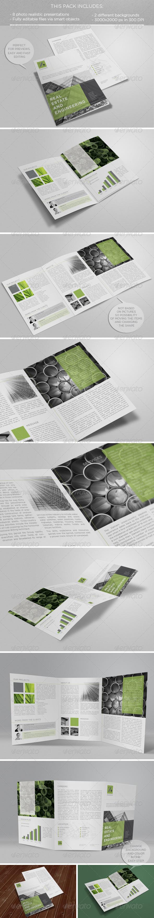 GraphicRiver A4 Tri-Fold Brochure Mock-up 6004990