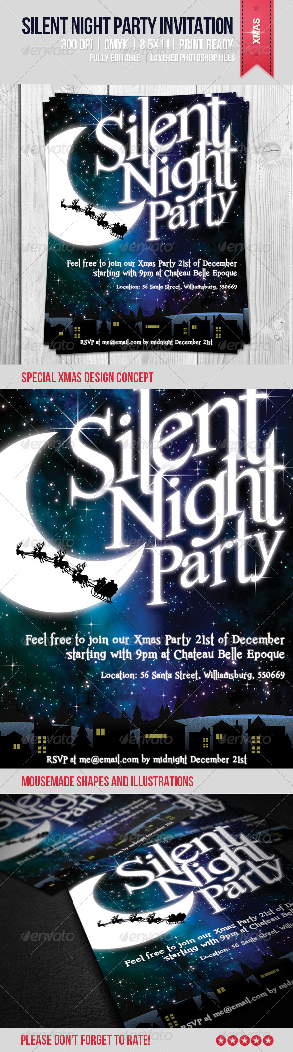 GraphicRiver Silent Night Party Invitation 6046975