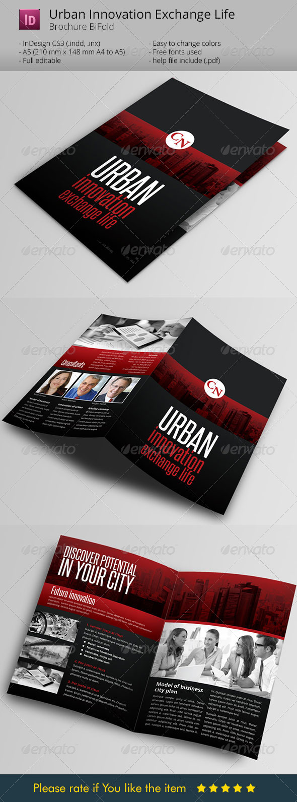 Urban Innovation exchange life Broshure Template - Informational Brochures
