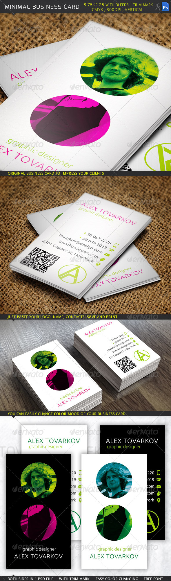 GraphicRiver Minimal Business Card 6047300