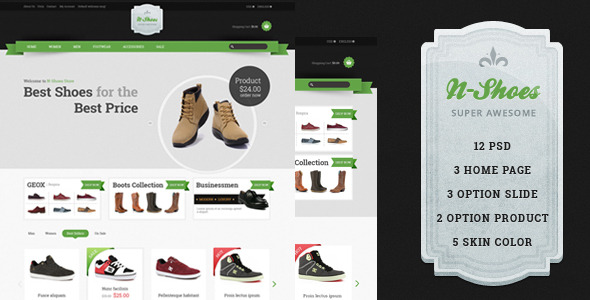 ThemeForest - N-Shoes PSD 6023259 - Free Download