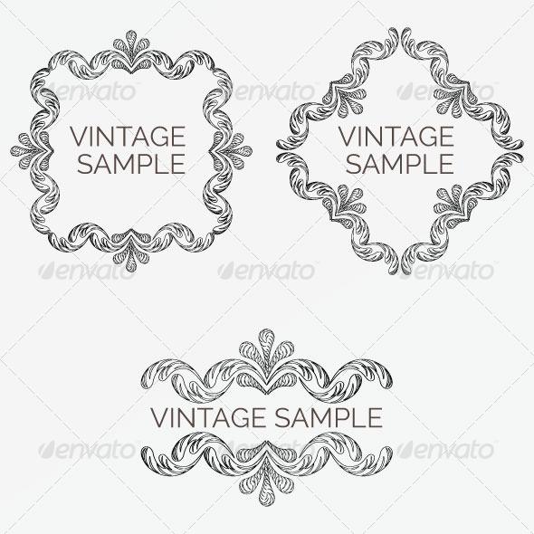 GraphicRiver Vintage Frame 71 6047514