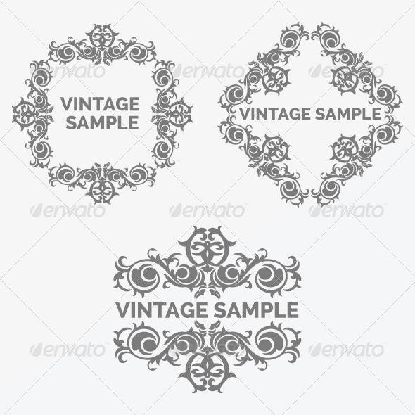GraphicRiver Vintage Frame 72 6047526