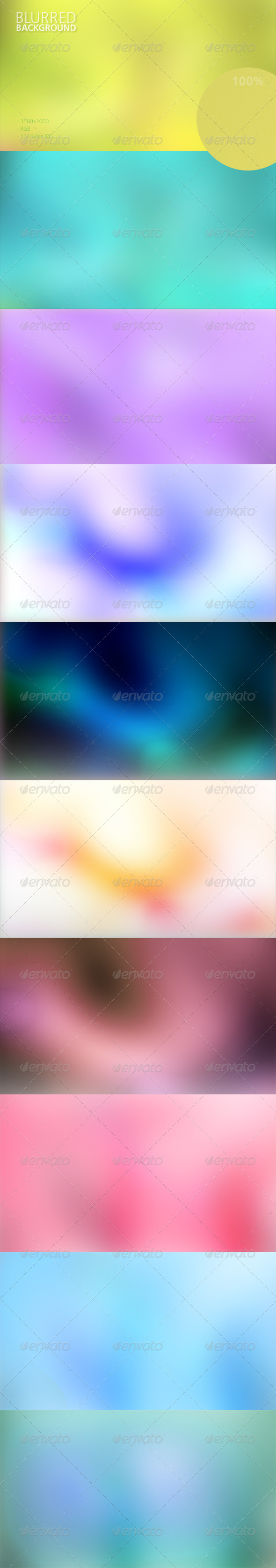 GraphicRiver Blurred Background Set 6047564