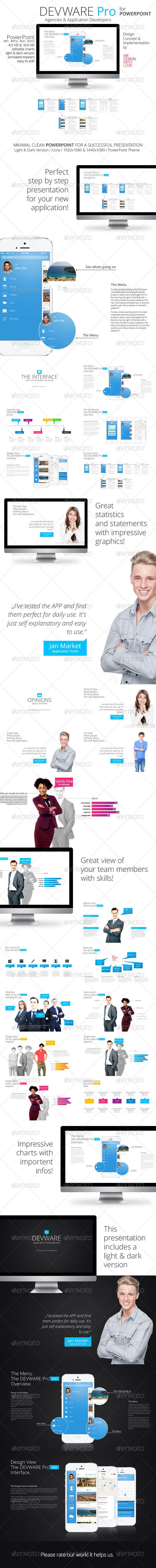 GraphicRiver Devware Pro light & dark PowerPoint 140 Slides 6047634