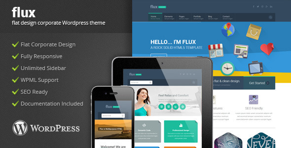 Flux - Flat Corporate Wordpress Theme 2 - Corporate WordPress