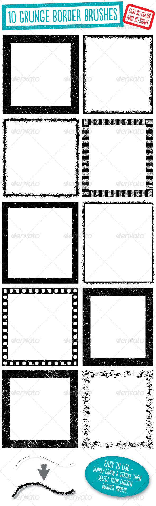 GraphicRiver Grunge Border Brushes 6048162
