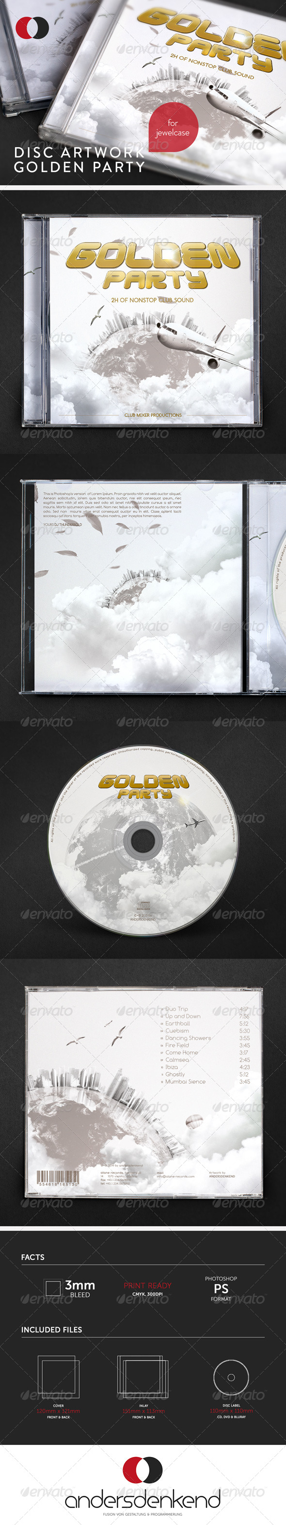 GraphicRiver Disc Artwork Golden Party 6048176