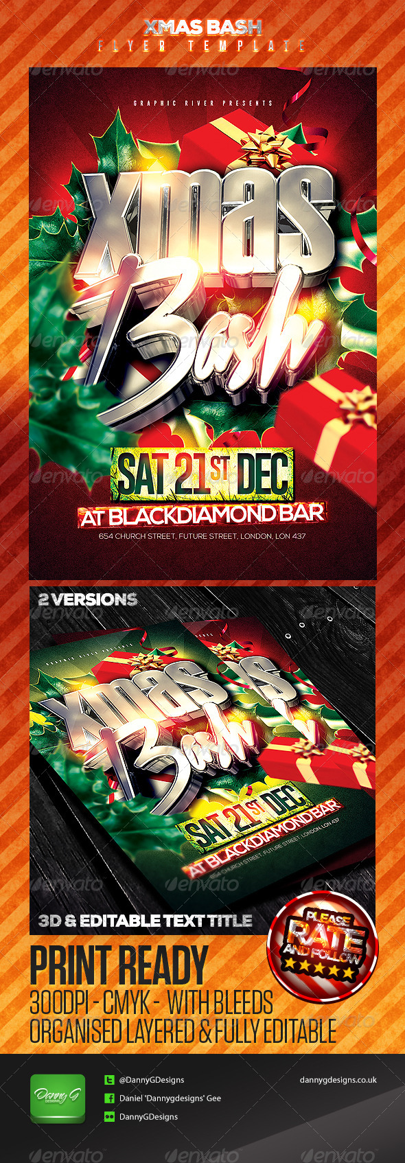 GraphicRiver Xmas Bash Flyer Template 6048261
