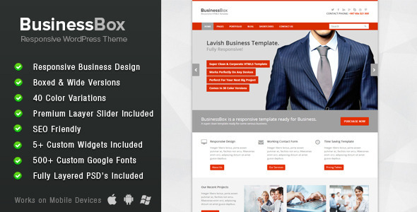 ThemeForest BusinessBox Responsive Business WordPress Theme 5913911