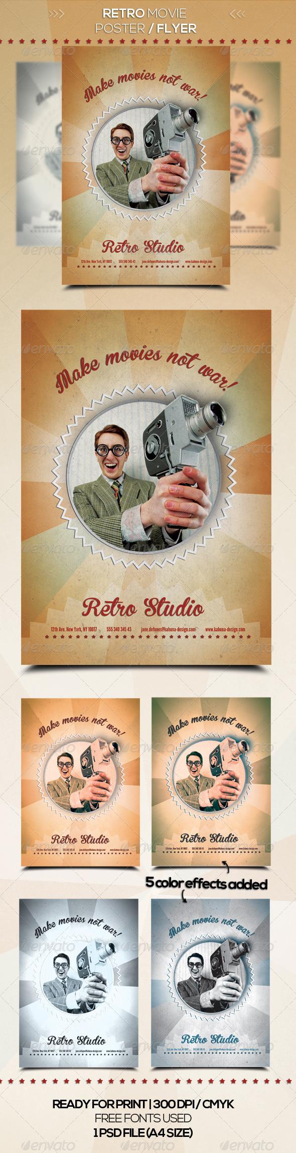 Retro Studio Flyer / Poster