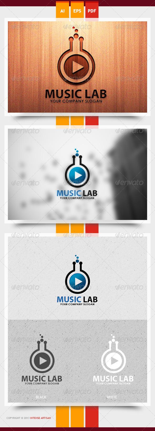 GraphicRiver Music Lab Logo Template 6048319
