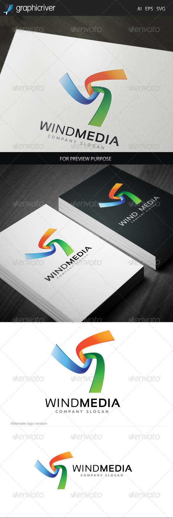 GraphicRiver Wind Media 1 Logo 6048321