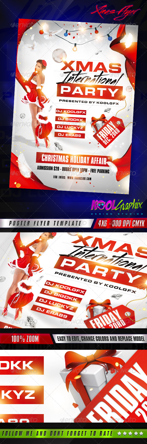 GraphicRiver Xmas Club Party Flyer Template 6047539