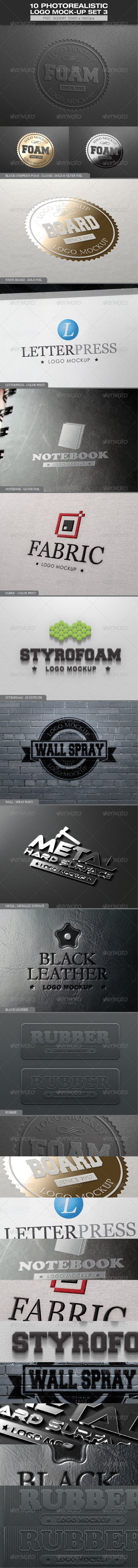 GraphicRiver 10 Photorealistic Logo Mock-up Set 3 6048634